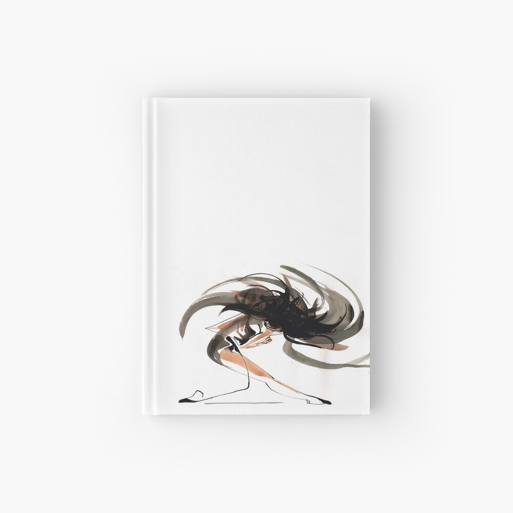 Expressive Ballerina Dance Drawing Hardcover Journal