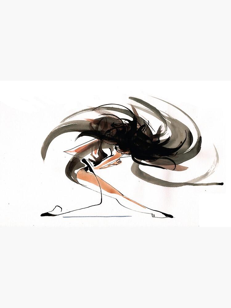 Expressive Ballerina Dance Drawing by CatarinaGarcia