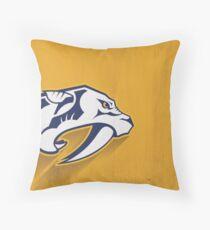 Nashville Predators Minimalist Print Throw Pillow