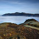 Skiddaw and Catbells above the clouds in the English Lake District by Martin Lawrence