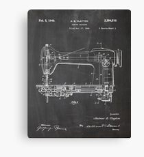 Sewing machine patent Canvas Print