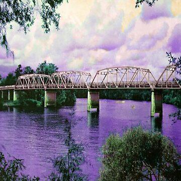 Bridge over Purple Water  by Krootalley