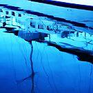 Brunswick Heads Boats Reflections #2 by Virginia McGowan