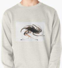 Expressive Ballerina Dance Drawing Pullover Sweatshirt