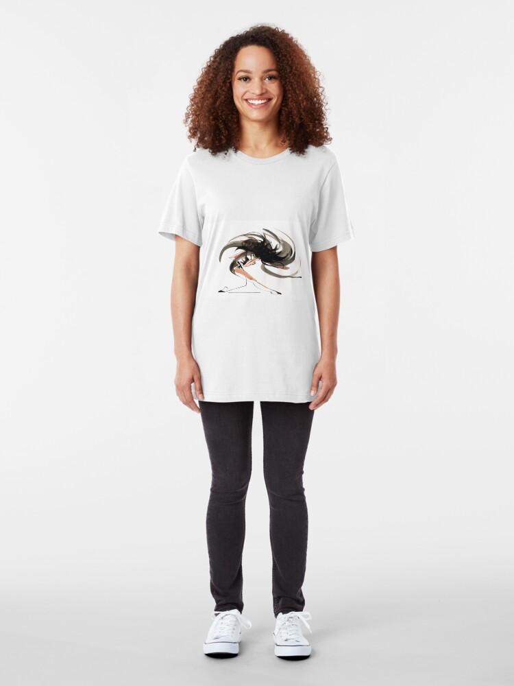 Alternate view of Expressive Ballerina Dance Drawing Slim Fit T-Shirt