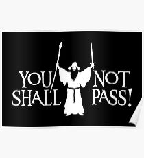 Gandalf - You Shall Not Pass! Variant Poster