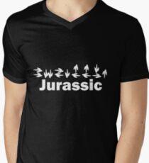 Dinotopia Inspired Jurassic Text Men's V-Neck T-Shirt