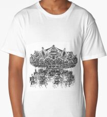 Carousel Drawing | Merry Go Round Art Print Long T-Shirt