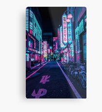 Tokio - Ein Neon-Wunderland Metalldruck