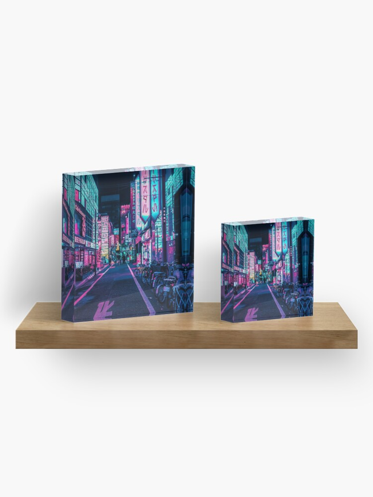 Alternate view of Tokyo - A Neon Wonderland Acrylic Block