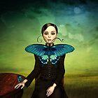 Butterfly portrait in the meadow by Britta Glodde