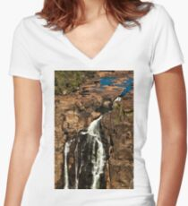 A Dribble of Water Women's Fitted V-Neck T-Shirt