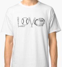 BASEBALL SOFTBALL LOVE SHIRT COFFEE MUG AND STICKERS Classic T-Shirt
