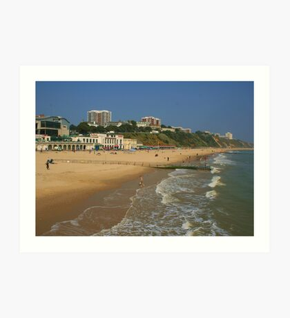 Bournemouth Beach And East Cliff Art Print
