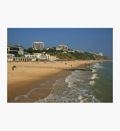 Bournemouth Beach And East Cliff Photographic Print