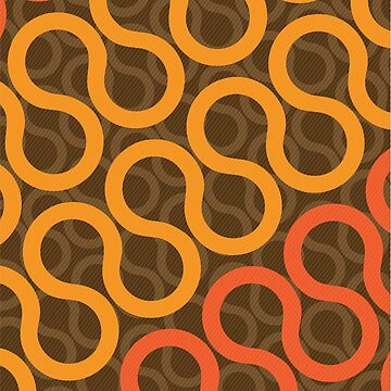 Abstract Retro Seventies Pattern by jeastphoto