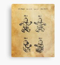 Lego Patent Posters Metal Print