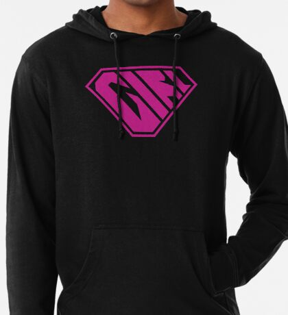 Girl SuperEmpowered (Pink) Lightweight Hoodie