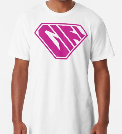 Girl SuperEmpowered (Pink) Long T-Shirt