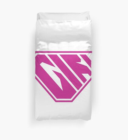 Girl SuperEmpowered (Pink) Duvet Cover