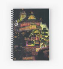 Spirited Away - Bath House at Night Spiral Notebook