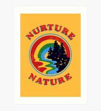 Lámina artística Nurture Nature Vintage Environmentalist Design