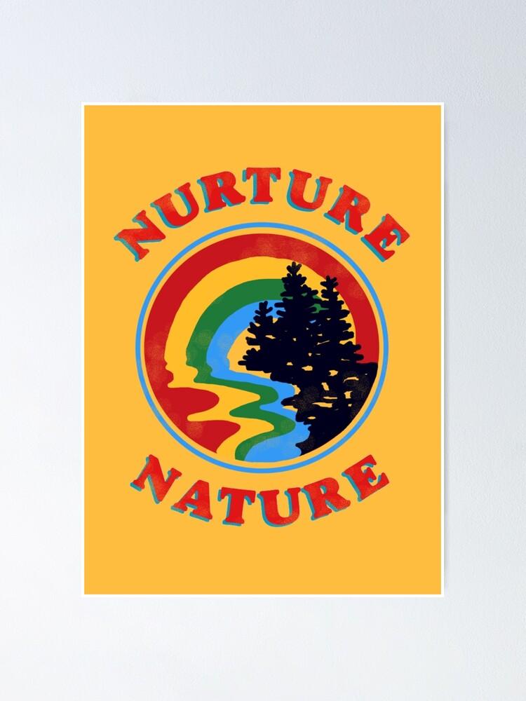 Alternate view of nurture nature vintage environmentalist design Poster