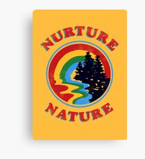 Nurture Nature Vintage Environmentalist Design Canvas Print