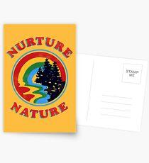 Nurture Natur Vintage Umweltschützer Design Postkarten