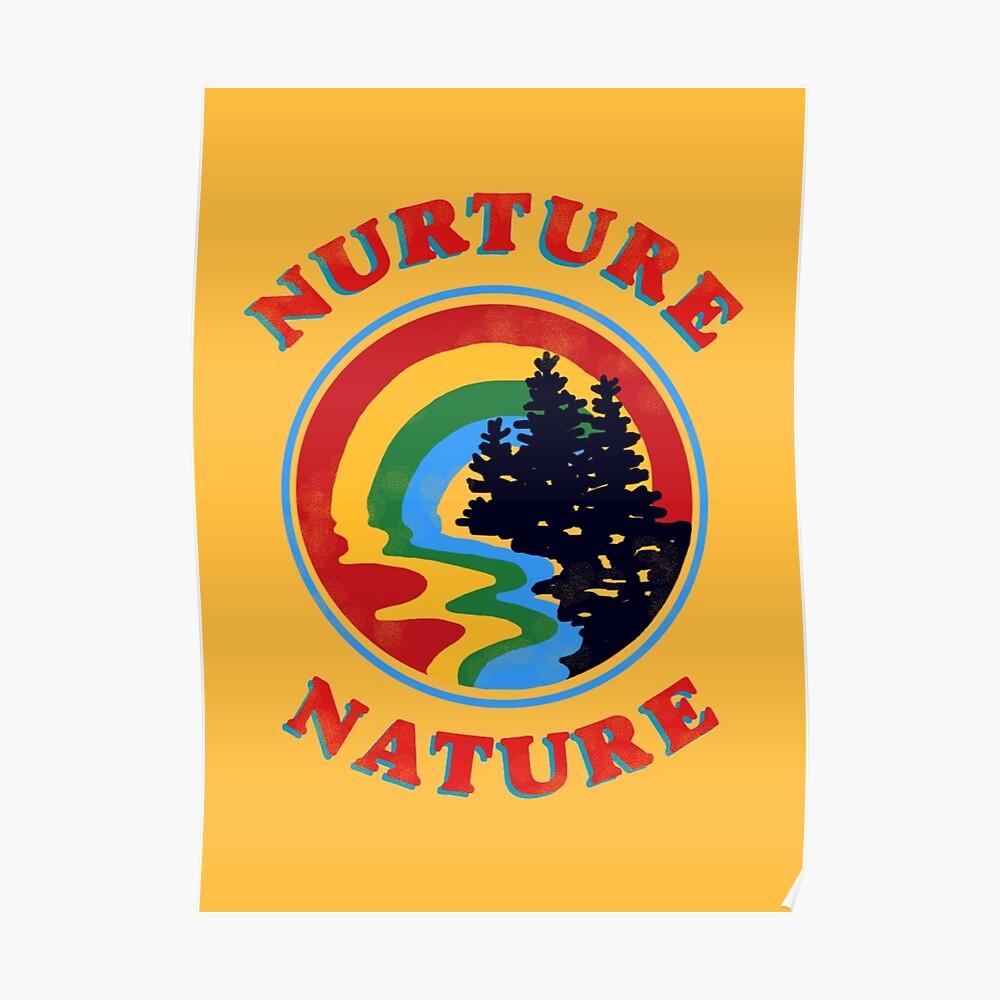 Nurture Nature Vintage Environmentalist Design Poster