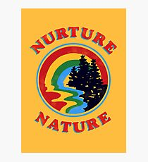 Nurture Nature Vintage Environmentalist Design Photographic Print
