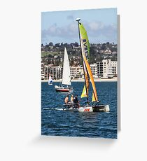 Sailing in San Diego, California USA Greeting Card
