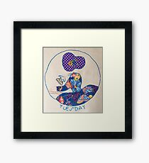 Tuesday Ironing Butterfly Bonnet Lady Framed Print