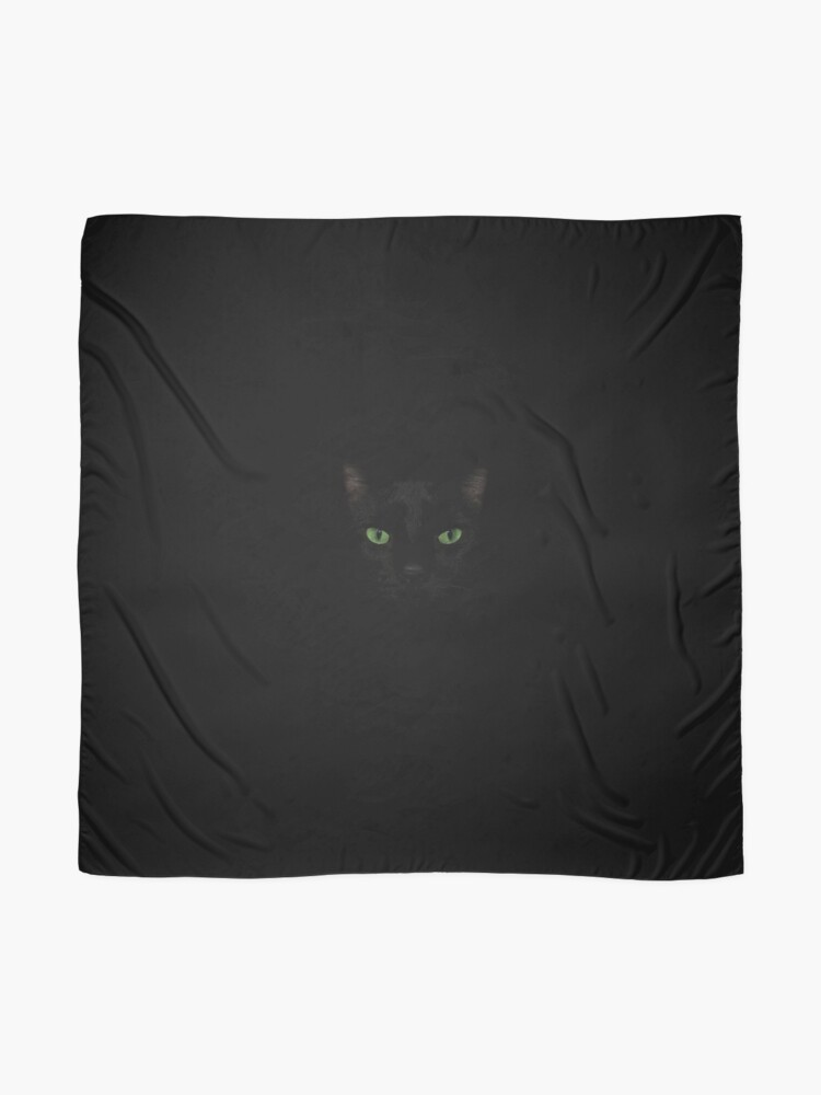 Alternate view of Black Cat Face  Scarf
