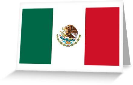 Bandera de mxico flag of mexico mexican flag greeting cards by bandera de mxico flag of mexico mexican flag by martstore m4hsunfo