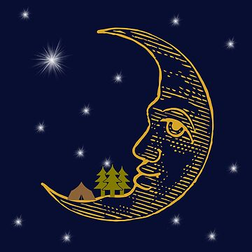Camping On The Moon Under The Stars by SportsT-Shirts