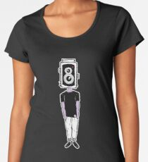 Camera Head - Black Women's Premium T-Shirt