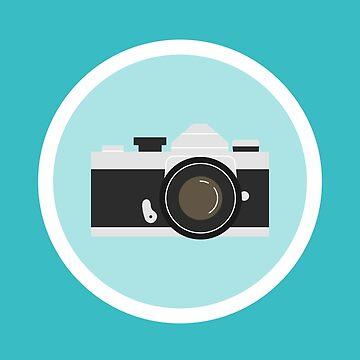 35mm Film Camera Vintage Camera Illustration by kathleenfrank