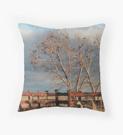 Magpie Tree Throw Pillow