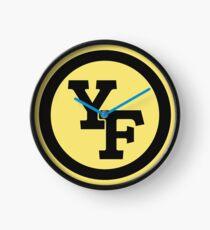 Yellow Fever logo Clock