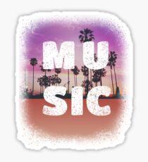 Music Lover Music Festival Distressed Graphic Sticker