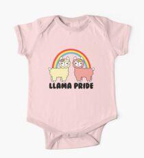 Adorable Llama Pride Black Lettering One Piece - Short Sleeve
