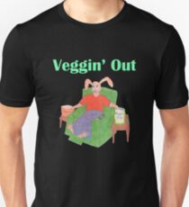 Veggin Out Snacking Bunny Unisex T-Shirt