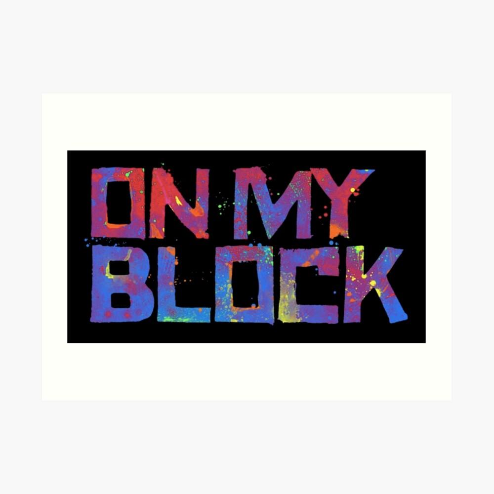 Auf meinem Block Kunstdruck