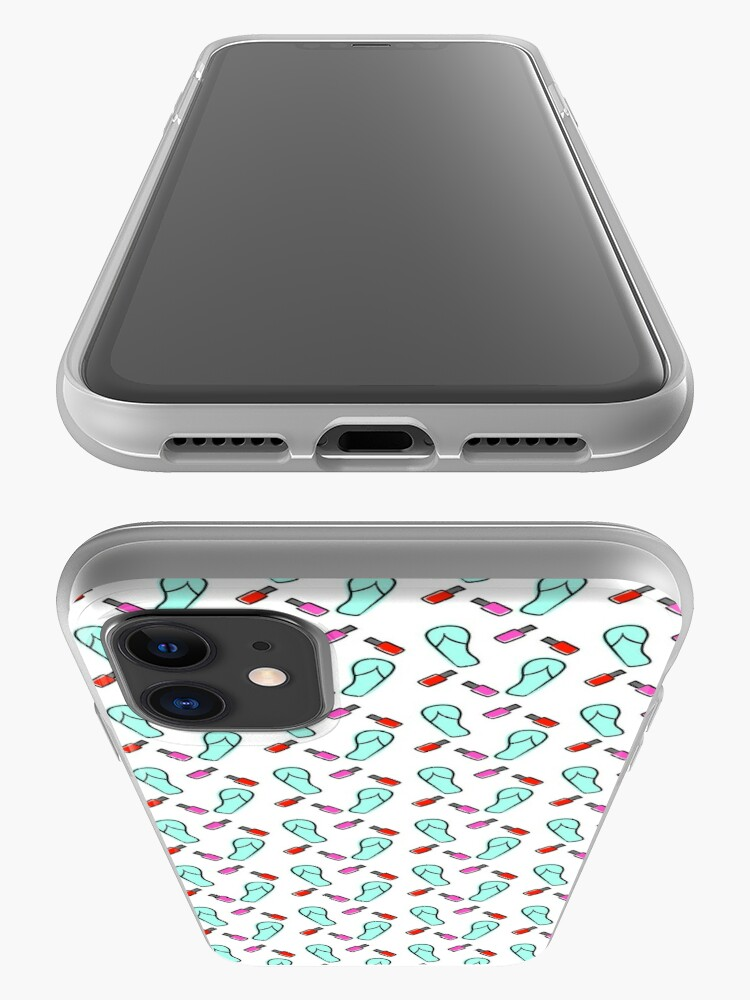 Alternate view of Flip Flops & Polish iPhone Case & Cover
