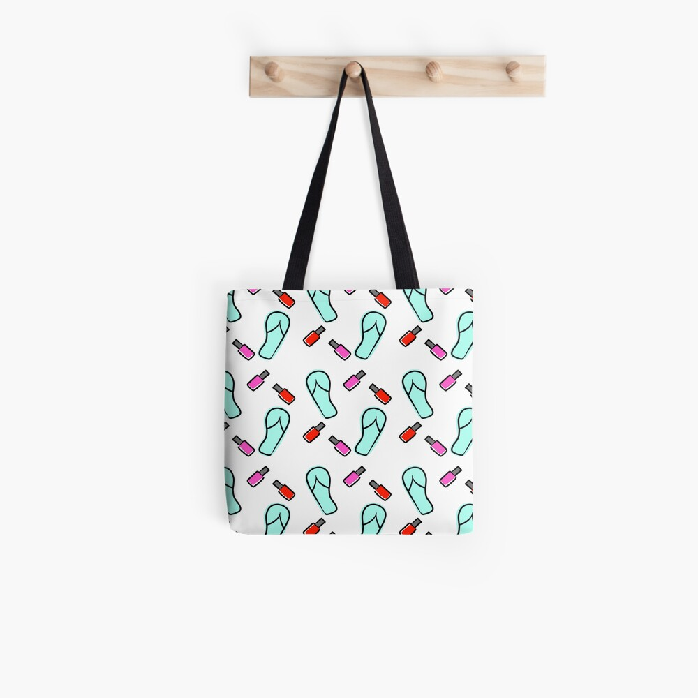 Flip Flops & Polish Tote Bag