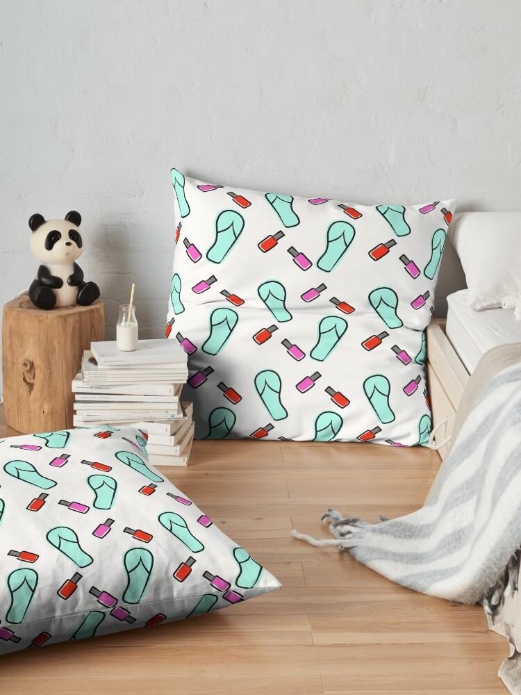 Alternate view of Flip Flops & Polish Floor Pillow