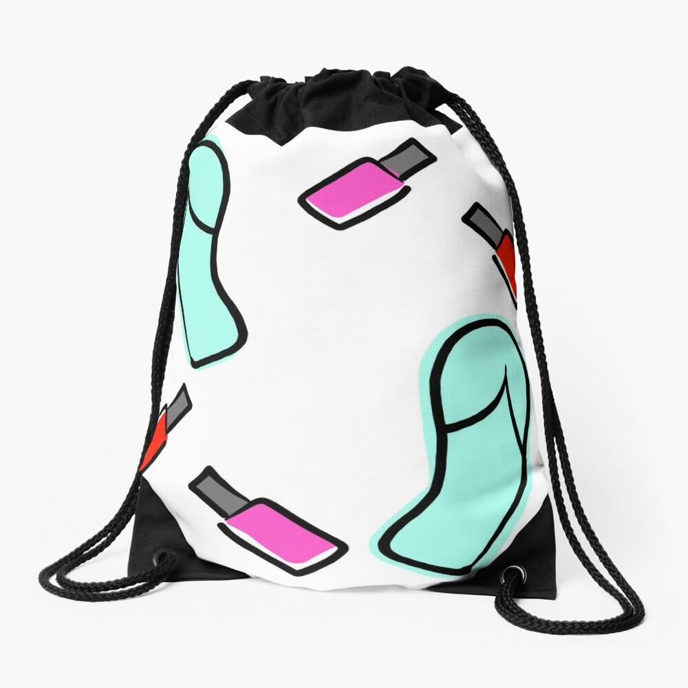Flip Flops & Polish Drawstring Bag
