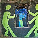 Ghost Town Blue Girl by Cheri Sundra