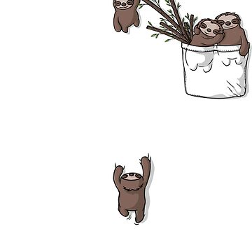 Pocket Sloth Family by ARRYAKIM